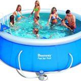 Bestway Fast Set Pool Set mit Filterpumpe + Zubehör