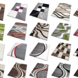 Moderner Frisee Designer Teppich, verschiedene Muster