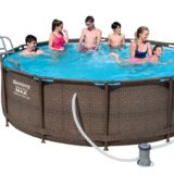 8 Stück Bestway Steel Pro Pool Set 366x100 Rattan 56709""