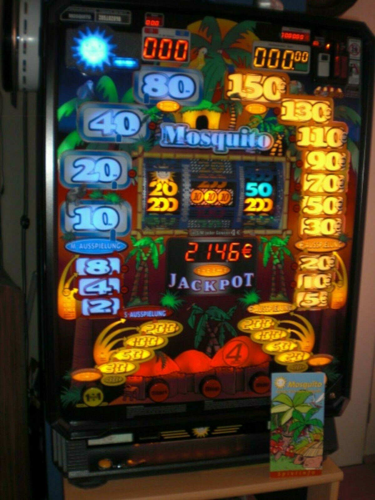 Merkur Mosquito, Geldspielautomat, Geldspielgerät