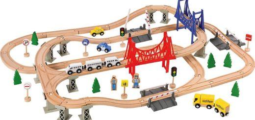 Spielzeugeisenbahn-Set Holzeisenbahn-Spielset für Kinder
