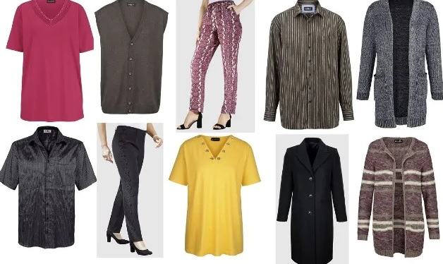 Hosen, Rock, Kleid, Strickjacke