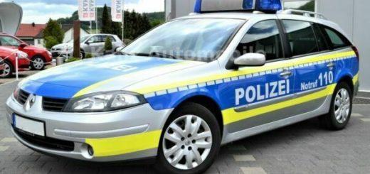 Gut erhaltenes Polizeiauto Renault Laguna Grandtour 2.2