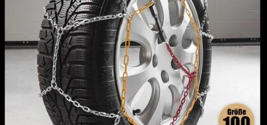 Schneeketten für Reifengrößen 70 bis 90