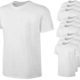 T-Shirt Weiß 100% Baumwolle - 10er Packung