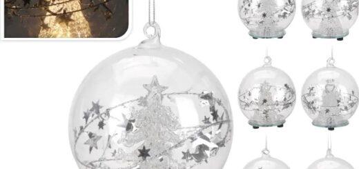Glas Weihnachtsbaumkugeln mit LED Licht