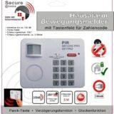 Hausalarm, Alarmanlage Bewegungsmelder mit Zahlencode