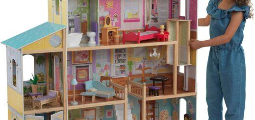 Puppenhaus Majestic Mansion aus Holz mit Möbeln und Zubehör